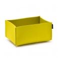 Obdélníkový košík Hey Sign žlutý