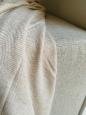 Kašmírová deka W vzor bílo-béžová