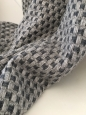 Kašmírová deka + vzor šedo-krémová