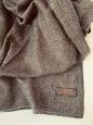 Kašmírový šál hnědý vzorovaný