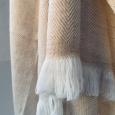 Kašmírová deka bílo-béžová