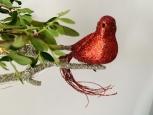 Vtáčik na štipci červený