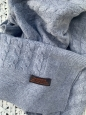 Kašmírová deka malá šedá