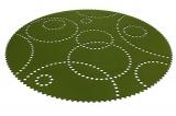 Kruhový koberec Stamp 120cm olive