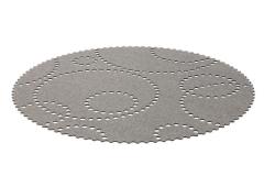 Koberec šedý kruh