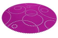 Kruhový koberec Stamp