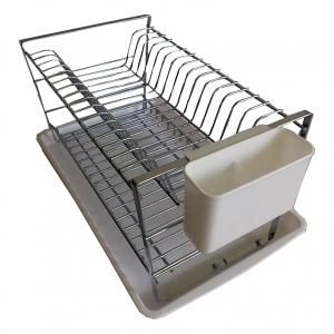 Odkapávač na nádobí chrom patrový s plastovou podložkou SUNIX ES-0553