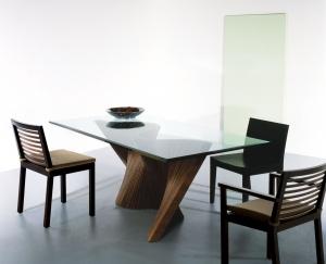 Designový jídelní stůl sklenený  Wave