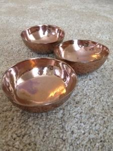 Keramická miska růžovo-bronzová