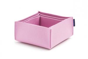 Košíky 3 sada barva růžová