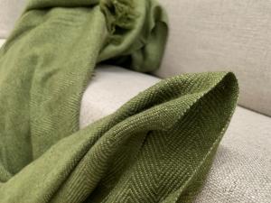 Kašmírová deka zelená