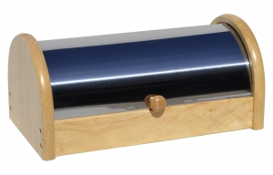 Chlebník (chlebovka) nerez-dřevo
