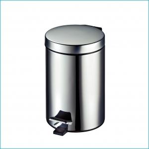 Odpadkový koš šlapací lesklý 3L