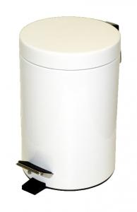 Odpadkový koš šlapací bílý 17x21 3L