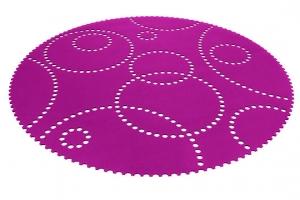 Kruhový koberec Stamp 120cm rosa