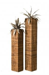 Květináč SUNIX 222000 SQUARE M - banánový list 97x21x21 cm