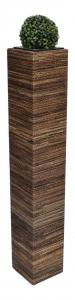 Květináč SUNIX 111000 SQUARE M - abakové vlákna 97x21x21 cm