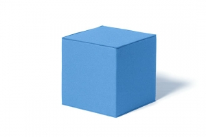 Kostka na sezení modrá