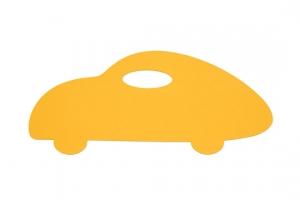 Koberec auto žluté