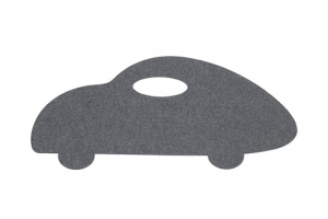 Koberec auto šedé
